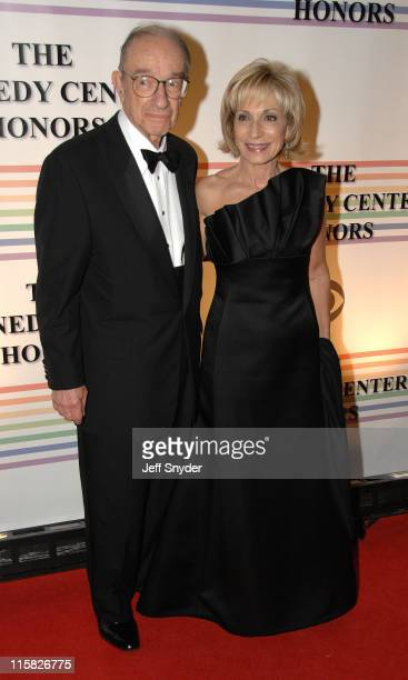 Alan Greenspan and Andrea Mitchell during 29th Annual Kennedy Center Honors at John F Kennedy Center for the Performing Arts in Washington DC United...