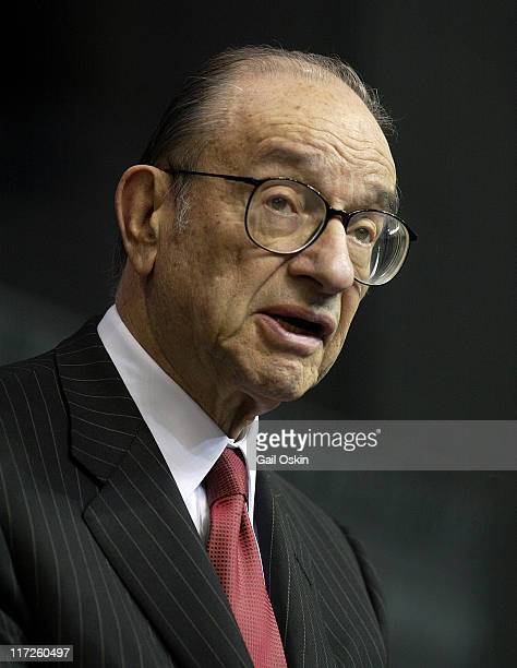 Alan Greenspan Chairmain of the Board of Governors of the Federal Reserve System gives the keynote address at the Boston College Finance Conference...