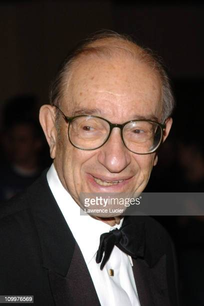 Alan Greenspan during The 2005 White House Correspondents Association Dinner at The Washington Hilton in Washington DC United States