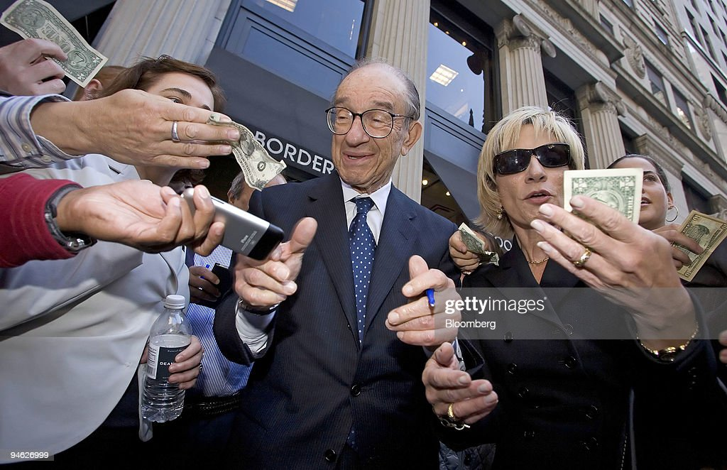 Alan Greenspan, former chairman of the United States Federal : News Photo
