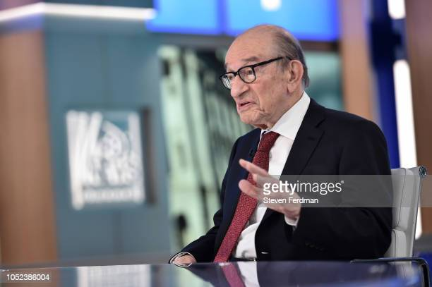 Alan Greenspan Visits 'The Daily Briefing' at Fox News Channel Studios on October 17 2018 in New York City