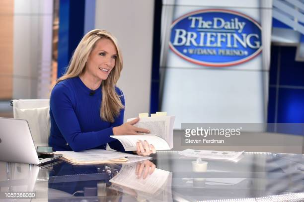 Alan Greenspan Visits The Daily Briefing at Fox News Channel Studios on October 17 2018 in New York City
