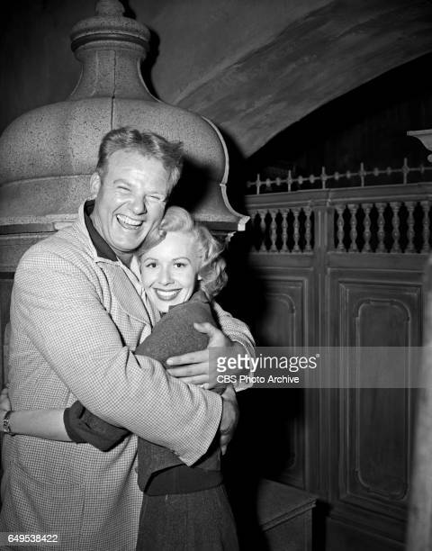 Alan Hale Jr portrays Biff Baker and Randy Stewart portrays Louise Baker in the CBS television adventure program 'Biff Baker USA' episode 'The Alpine...