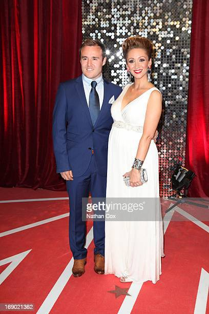 Alan Halsall and Lucy Jo Hudson arrive at the British Soap Awards 2013 Red Carpet arrivals at Media City on May 18 2013 in Manchester England