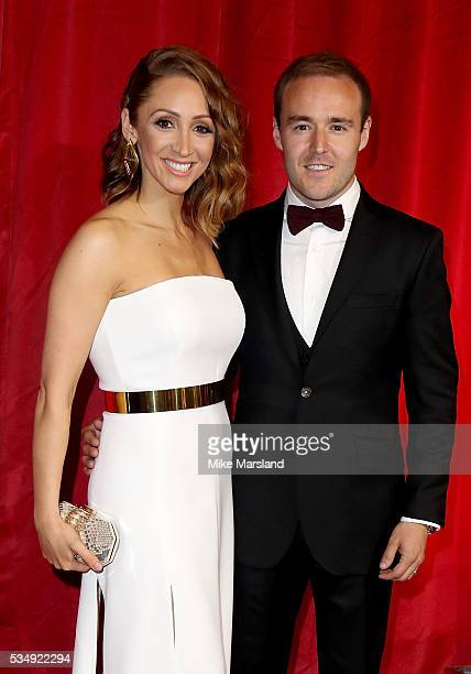 Alan Halsall and LucyJo Hudson attend the British Soap Awards 2016 at Hackney Empire on May 28 2016 in London England