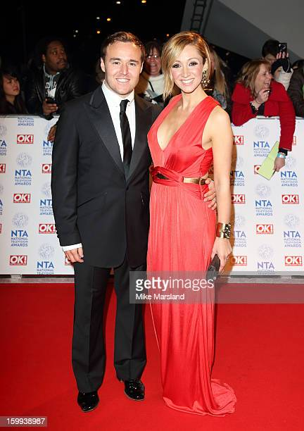Alan Halsall and LucyJo Hudson attend the National Television Awards at 02 Arena on January 23 2013 in London England