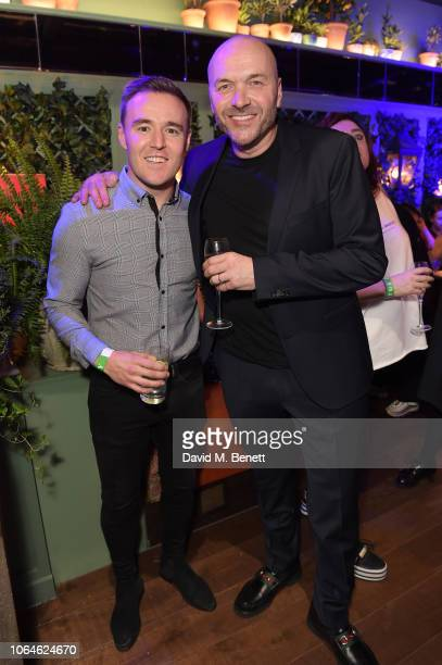 Alan Halsall and Simon Rimmer attend The Ivy Spinningfields VIP Launch Party on November 23 2018 in Manchester England