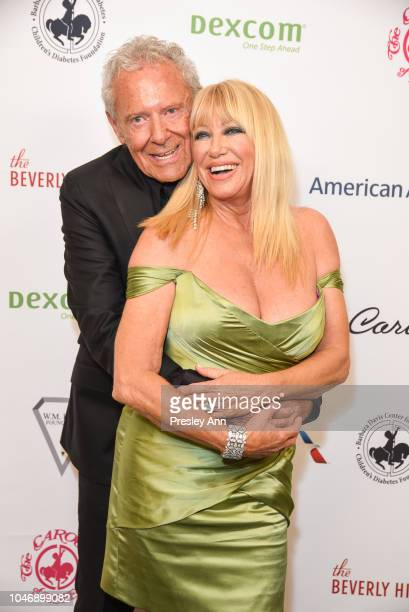 Alan Hamel and Suzanne Somers attend 2018 Carousel Of Hope Ball VVIP Reception at The Beverly Hilton Hotel on October 6 2018 in Beverly Hills...
