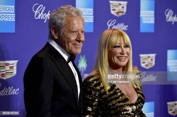 Alan Hamel and Suzanne Somers attend the 29th Annual Palm Springs International Film Festival Awards Gala at Palm Springs Convention Center on...