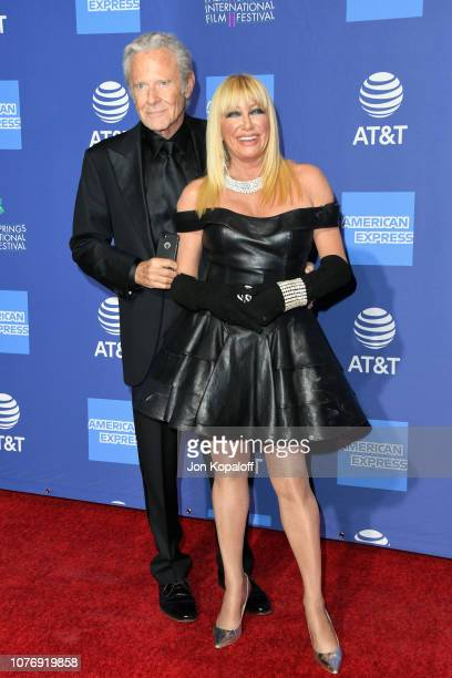 Alan Hamel and Suzanne Somers attends the 30th Annual Palm Springs International Film Festival Film Awards Gala at Palm Springs Convention Center on...
