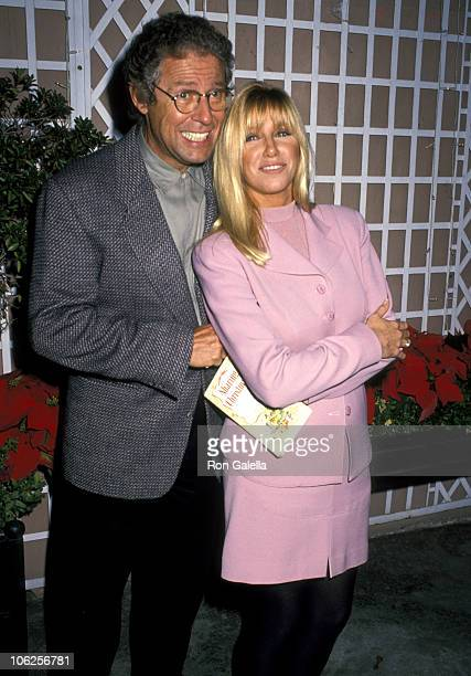 Alan Hamel and Suzanne Somers during Deborah Raffin's New Book 'Sharing Christmas' Party December 11 1990 at The Bistro in Beverly Hills California...