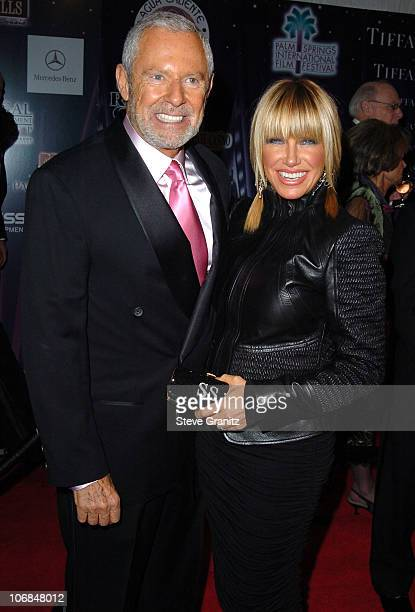 Alan Hamel and Suzanne Somers during Palm Springs International Film Festival Awards Gala presented by Tiffany Co Arrivals at Palm Springs Convention...