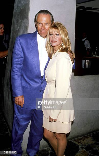 Alan Hamel and Suzanne Somers during 'Suzanne Somers Show' KickOff Party August 2 1994 at Maple Dr Restaurant in Beverly Hills California California...
