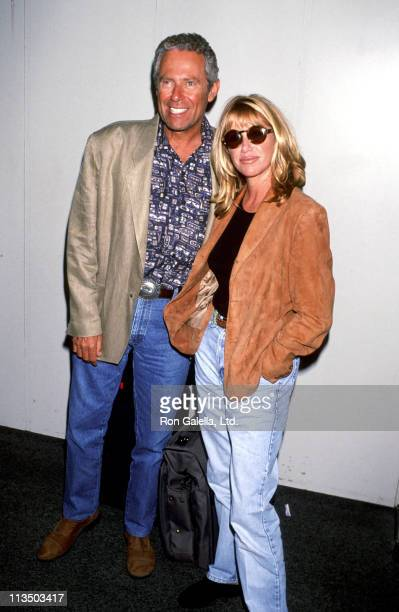 Alan Hamel and Suzanne Somers during Suzanne Somers Sighting at Los Angeles International Airport September 7 1994 at Los Angeles International...