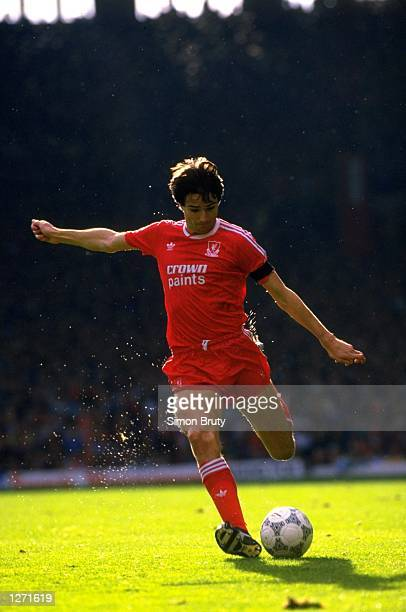 Alan Hansen of Liverpool in action during a match against Queens Park Rangers at Anfield in Liverpool England Liverpool won the match 40 Mandatory...