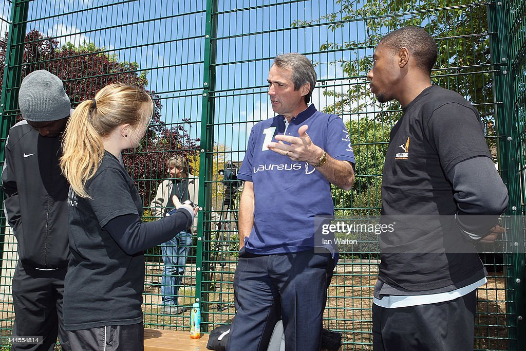 Alan Hansen speaks to the media during a visit to a Laureus Street League project at the Calthorpe Project on May 16, 2012 in London, England. As a follow up to the 2012 Laureus World Sport Awards in London the decision was taken to follow up with guests and invite them to take part in Foundation events and visit projects. This is particularly with the view of developing more Academy Members and Ambassadors. This will be the first time that Laureus has visited Street League since funding started in 2009.
