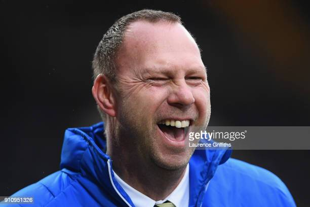 Alan Hardy Notts County Chairman smiles prior to The Emirates FA Cup Fourth Round match between Notts County and Swansea City at Meadow Lane on...