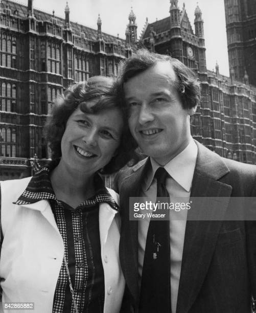 Alan Haselhurst the new Conservative MP for Saffron Walden arrives at the House of Commons in London to take up his seat accompanied by his wife...