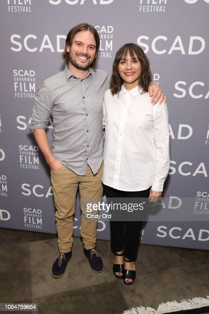 Alan Hicks and Rashida Jones attend the Docs to Watch Roundtable during the 21st SCAD Savannah Film Festival at Lucas Theatre for the Arts on October...