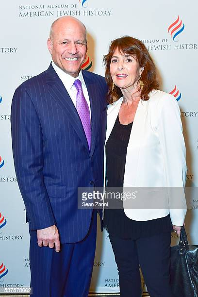 Alan Hoffman and Dr Julie Goldman attend National Museum of American Jewish History Only in America Gala at Gotham Hall on June 1 2016 in New York...