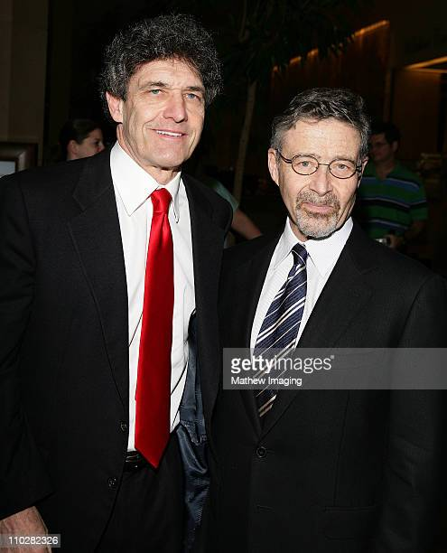 Alan Horn and Barry Meyer of Warner Bros during 43rd Annual ICG Publicists Awards Arrivals at Beverly Hilton Hotel in Beverly Hills CA United States