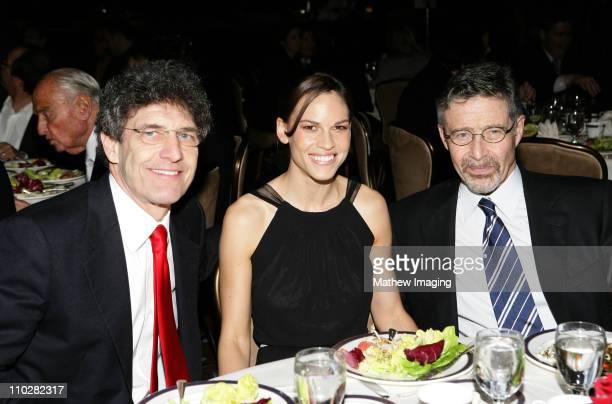 Alan Horn of Warner Bros Hilary Swank and Barry Meyer of Warner Bros *Exclusive*