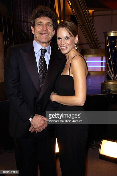 Alan Horn president/CEO of Warner Bros and Hilary Swank