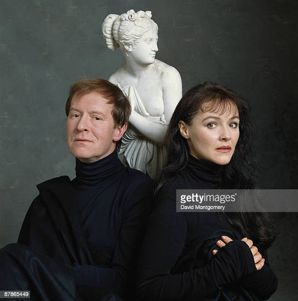 Alan Howard and Frances Barber who are costarring in George Bernard Shaw's 'Pygmalion' at the National Theatre 1992