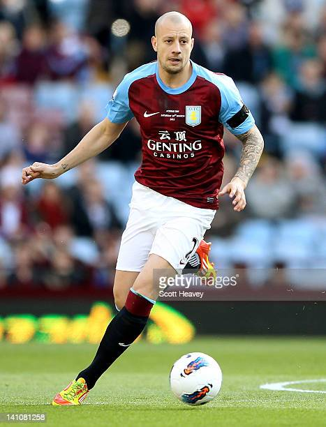 Alan Hutton of Aston Villa during the Barclays Premier League match between Aston Villa and Fulham at Villa Park on March 10 2012 in Birmingham...