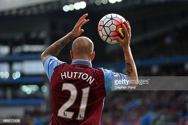 Alan Hutton of Aston Villa during the Barclays Premier League match between Aston Villa and West Bromwich Albion at Villa Park stadium on September...