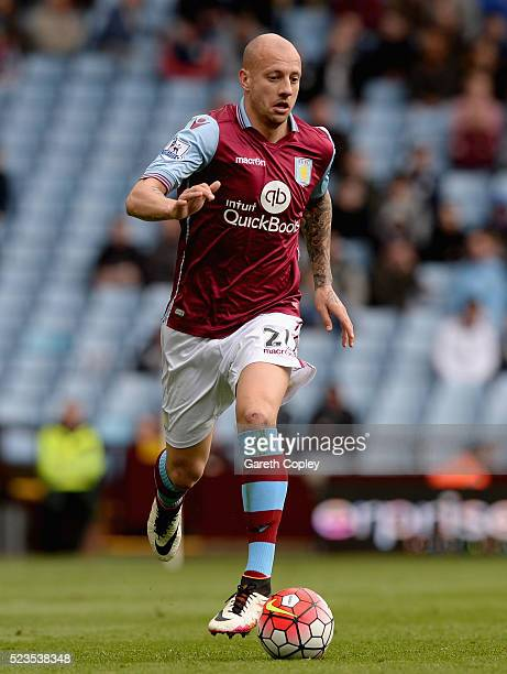 Alan Hutton of Aston Villa during the Barclays Premier League match between Aston Villa and Southampton at Villa Park on April 23 2016 in Birmingham...