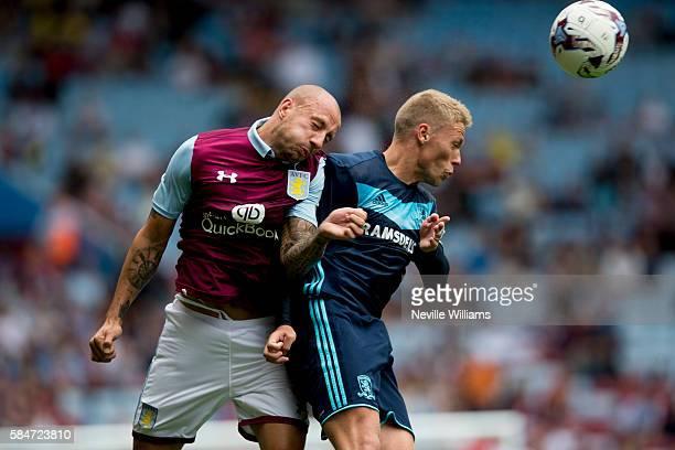 Alan Hutton of Aston Villa during the Pre-Season Friendly match between Aston Villa and Middlesbrough at Villa Park on July 30, 2016 in Birmingham,...