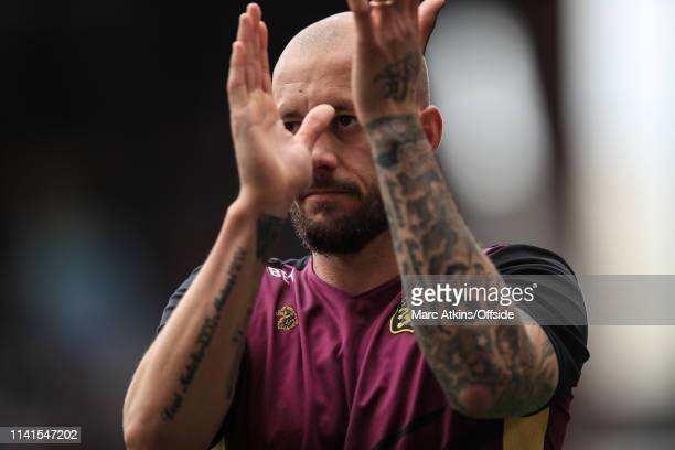 Alan Hutton of Aston Villa during the Sky Bet Championship match between Aston Villa and Norwich City at Villa Park on May 5 2019 in Birmingham...