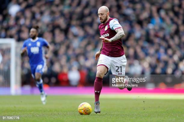 Alan Hutton of Aston Villa during the Sky Bet Championship match between Aston Villa and Birmingham City at Villa Park on February 11 2018 in...