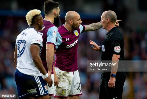 Alan Hutton of Aston Villa during the Sky Bet Championship Play Off Semi Final Second Leg match between Aston Villa and Middlesbrough at Villa Park...