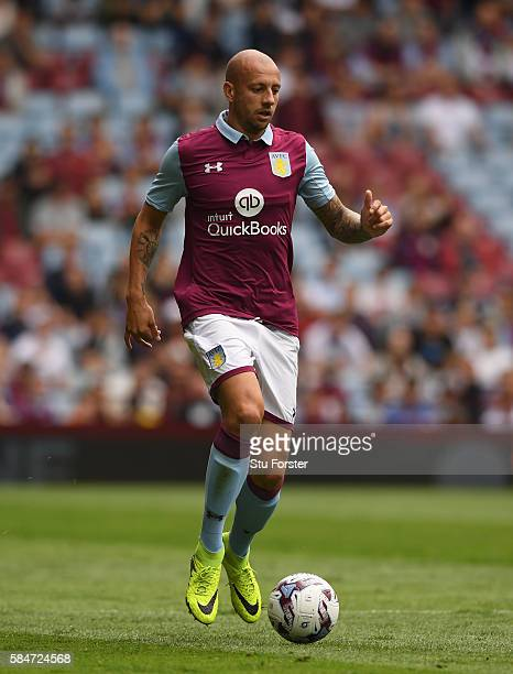 Alan Hutton of Villa in action during the pre season friendly between Aston Villa and Middlesbrough at Villa Park on July 30 2016 in Birmingham...