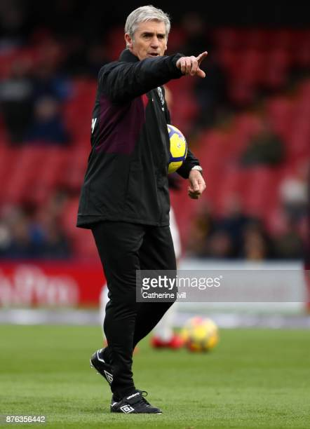Alan Irvine assistant coach of West Ham United during the Premier League match between Watford and West Ham United at Vicarage Road on November 19,...