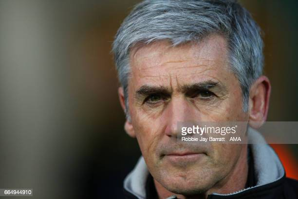 Alan Irvine caretaker head coach / manager of Norwich City during the Sky Bet Championship match between Huddersfield Town and Norwich City at John...
