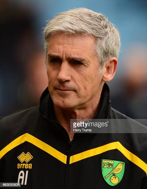 Alan Irvine, Caretaker Manager of Norwich City during the Sky Bet Championship match between Aston Villa and Norwich City at Villa Park on April 1,...