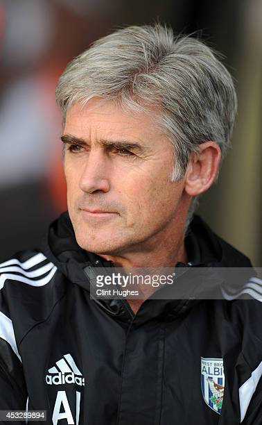 Alan Irvine manager of West Bromwich Albion during the Pre Season Friendly match between Port Vale and West Bromwich Albion at Vale Park on August 5...