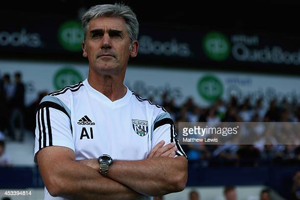 Alan Irvine, manager of West Bromwich Albion looks on during the Pre Season Friendly match between West Bromwich Albion and FC Porto at The Hawthorns...