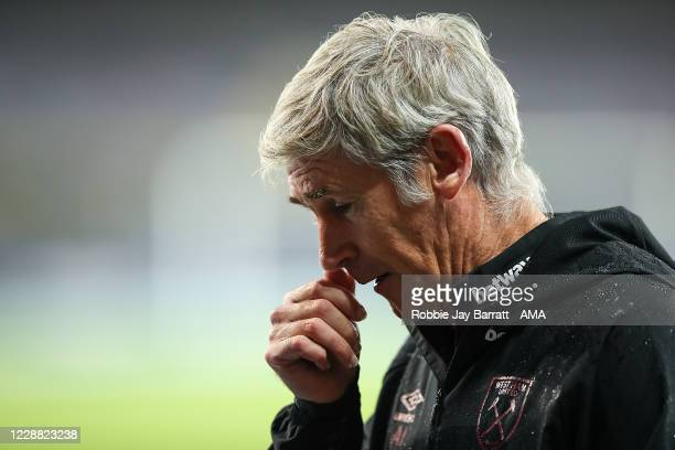 Alan Irvine the assistant head coach / manager of West Ham United who is filling in for David Moyes the head coach / manager of West Ham United who...