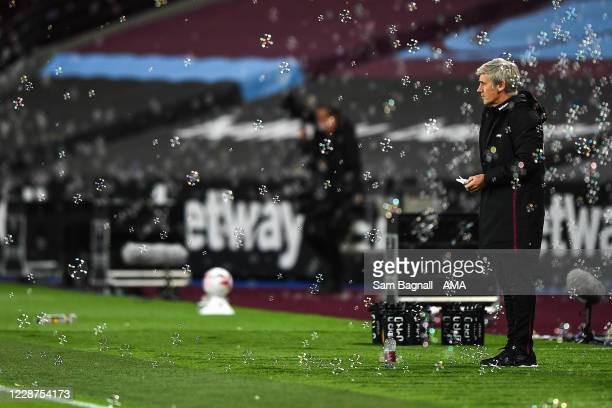 Alan Irvine the assistant head coach / manager of West Ham Untied during the Premier League match between West Ham United and Wolverhampton Wanderers...