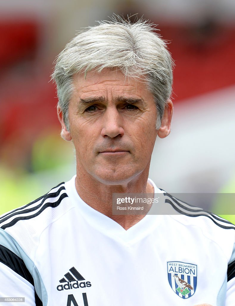 Alan Irvine the manager of West Bromwich Albion during the pre season friendly match between Nottingham Forest and West Bromwich Albion at the City Ground on August 2, 2014 in Nottingham, England.