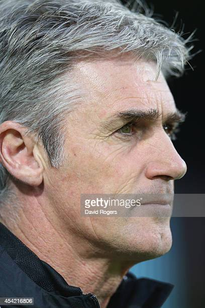 Alan Irvine, the West Browmich Albion manager looks on during the Capital One Cup second round match between West Bromwich Albion and Oxford United...
