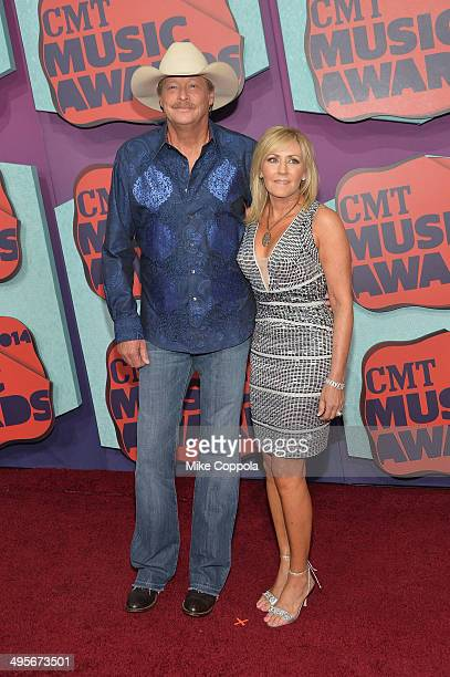 Alan Jackson and Denise Jackson attend the 2014 CMT Music awards at the Bridgestone Arena on June 4 2014 in Nashville Tennessee