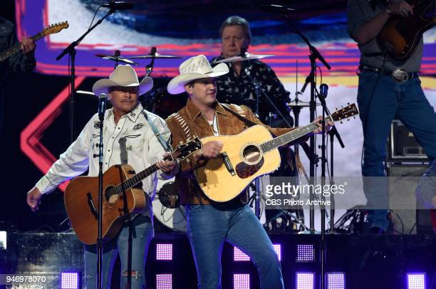 Alan Jackson and Jon Pardi perform at the 53RD ACADEMY OF COUNTRY MUSIC AWARDS live from the MGM Grand Garden Arena in Las Vegas Sunday April 15 2018...