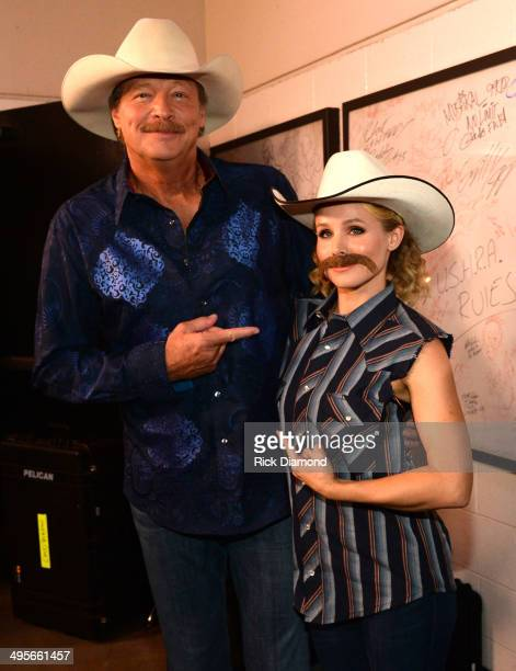 Alan Jackson and Kristen Bell attend the 2014 CMT Music Awards at Bridgestone Arena on June 4 2014 in Nashville Tennessee
