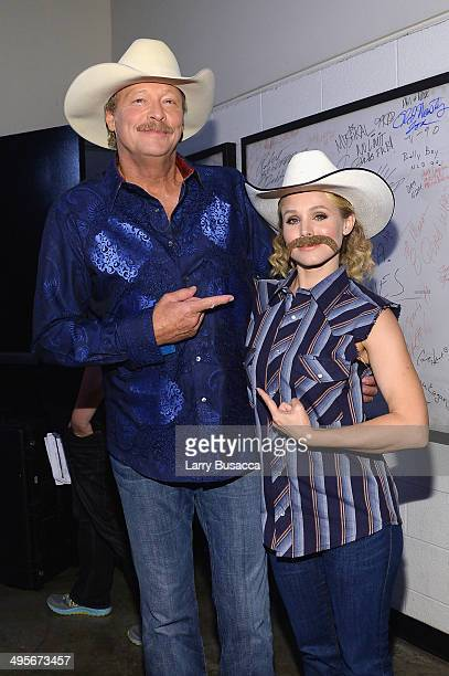 Alan Jackson and Kristen Bell attend the 2014 CMT Music awards at the Bridgestone Arena on June 4 2014 in Nashville Tennessee
