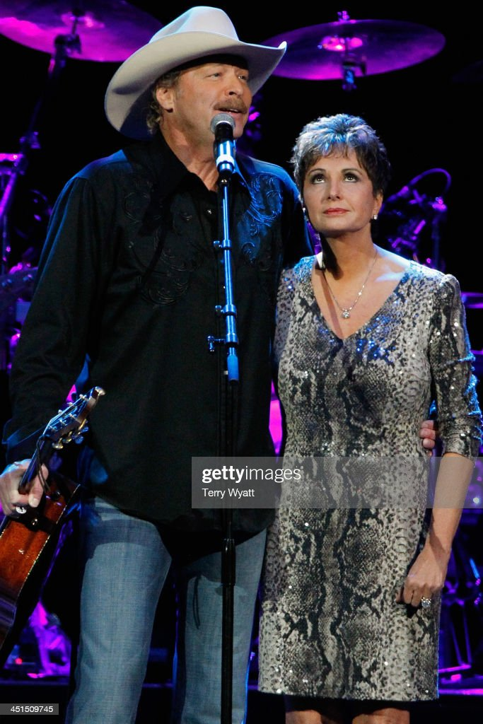 Alan Jackson and Nancy Jones close out Playin' Possum! The Final No Show Tribute To George Jones - Show at Bridgestone Arena on November 22, 2013 in Nashville, Tennessee.